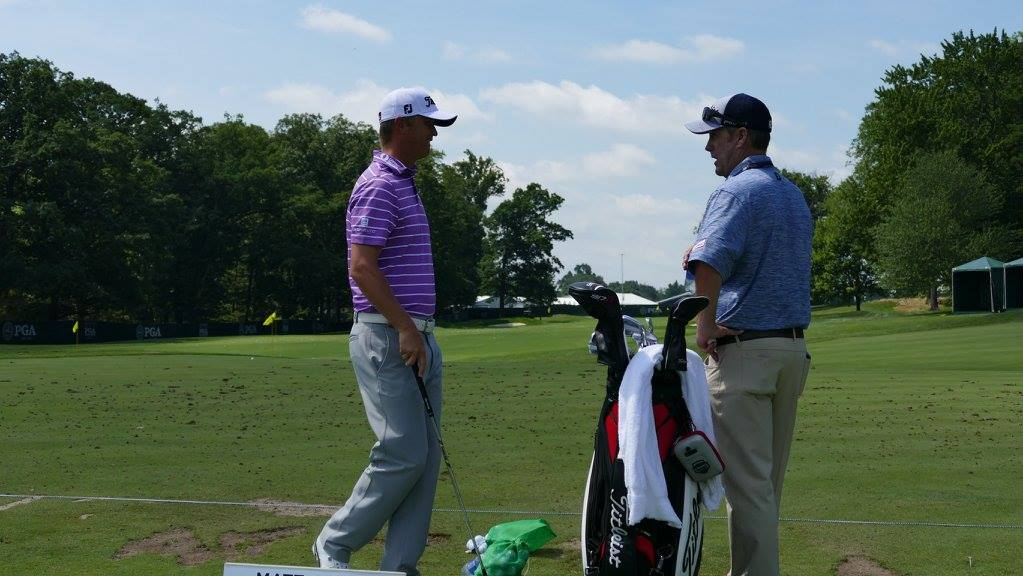 Jones caught up with Titleist Tour staff member...