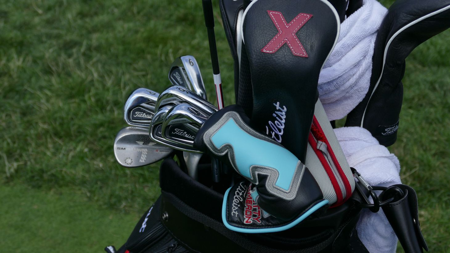 his 716 AP2 irons, along with…