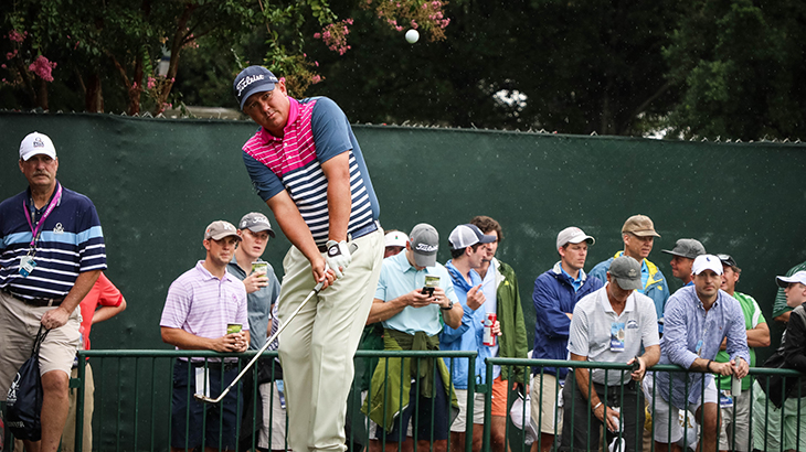 2013 PGA Championship victor Jason Dufner works on...