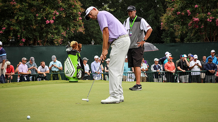 Titleist Brand Ambassador Bill Haas rolled putts...