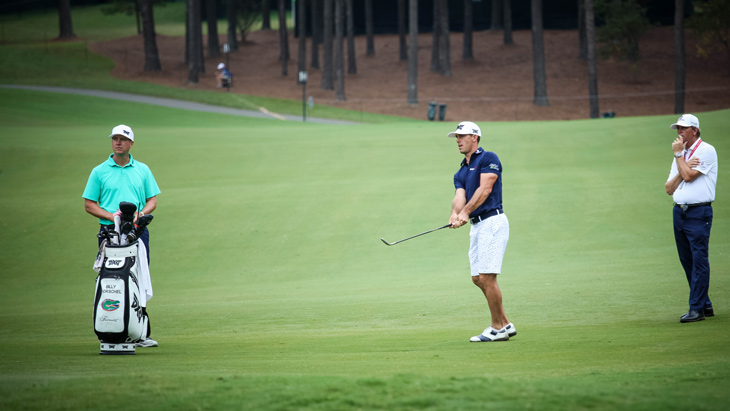 Horschel puts his Pro V1x to the test around the...