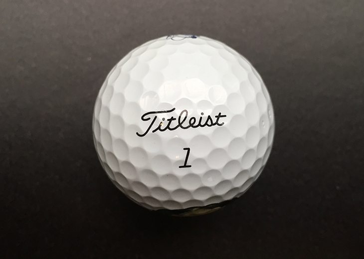 ... is the #1 ball in golf, the Titleist Pro V1...