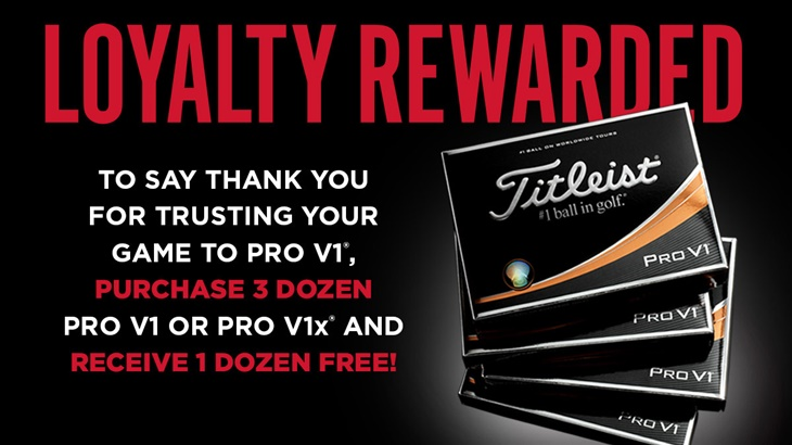 Loyalty Rewarded 2018: Thank you for trusting your game to Pro V1